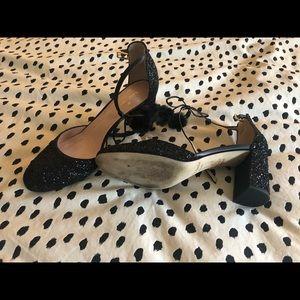 Kate spade black sparkle shoes